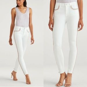 7 for All Mankind High Waist Ankle Skinny White